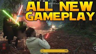 ALL New Star Wars: Battlefront Gameplay: EMPEROR, LEIA, BOBA FETT, SLAVE 1 & MORE!