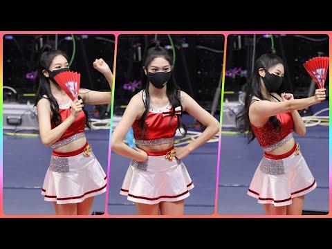 [4K] 치어리더 유수아 직캠 (cheerleader) - 사전응원 연습 @남자배구경기/201118/Fanc…