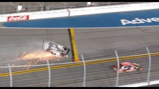 Ryan Newman's Wild Daytona 500 Crash From The Grandstands (Fan Perspective)