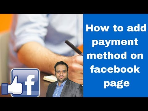 How to add payment method on facebook page 2019