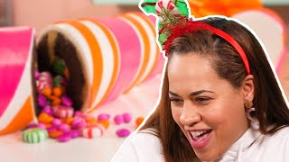 Yo Reaction to Crazy Christmas Cakes | A GIANT…WHAT!? | How To Cake It with Yolanda Gampp
