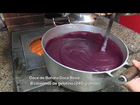 Aprenda a receita Doce de Batata Roxa