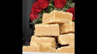 fudge with evaporated milk and powdered sugar