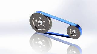 SolidWorks Tutorial | How To Make Belt And Pulley Motion In SolidWorks 2019