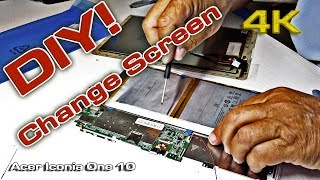 Acer Iconia One 10 Change screen  (DIY) [4K]