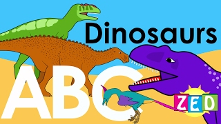 Dinosaur Alphabet  Zed | ABC of Dinosaurs | Learn about dinosaurs | NurseryTracks