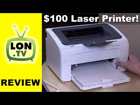 HP LaserJet Pro M12w Sub $100 Laser Printer Review