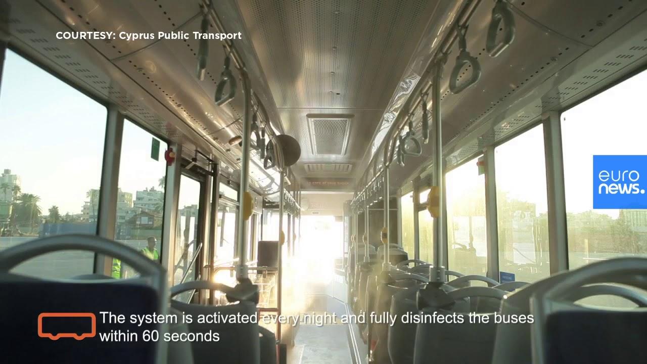 Κύπρος: Πανευρωπαϊκή πρωτιά με αυτόματο σύστημα απολύμανσης στα δημόσια λεωφορεία
