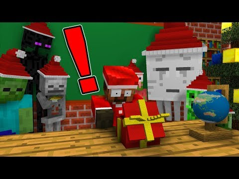 Monster School: OPENING CHRISTMAS PRESENT - Minecraft Animation