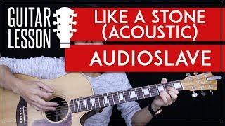 Like A Stone Guitar Tutorial Acoustic - Audioslave Chris Cornell Guitar Lesson 🎸 |Easy + No Capo|