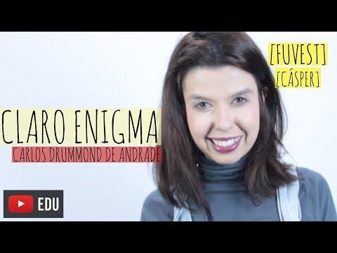 RESENHA: Claro Enigma - Drummond (FUVEST/Cásper)