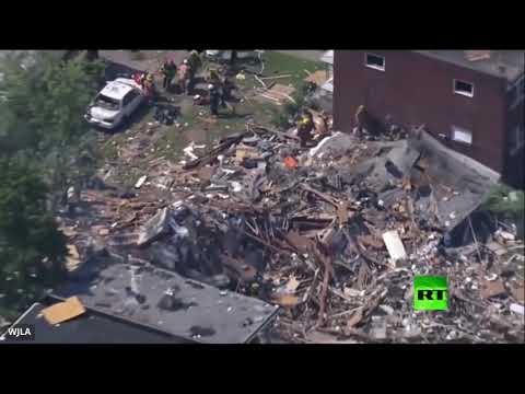 العرب اليوم - شاهد: انفجار قوي في مدينة بالتيمور الأميركية