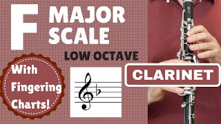 CLARINET F Major Scale | Low Octave SLOW
