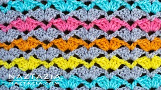 How to Crochet the Open Shell Stitch - Good for a Scarf or Blanket by Naztazia