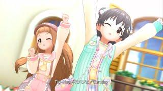 「デレステ」O-Ku-Ri-Mo-No Sunday! (Game Ver.) 市原仁奈、赤城みりあ SSR