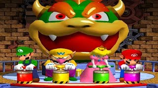 Mario Party 4 - Minigames - Luigi vs Wario vs Mario vs Peach