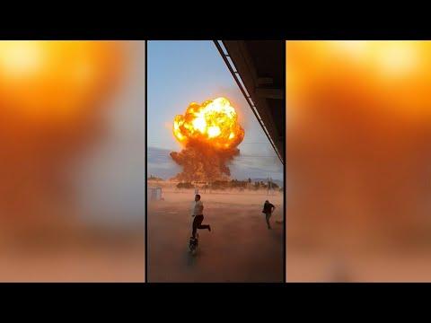 هذا الفيديو ليس لانفجارٍ في محيط مطار كابول بل لانفجار مخزن أسلحة في كازاخستان