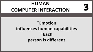 Human Computer Interaction Lecture 3 in Urdu  Hindi I Vcomsat