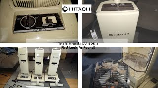ULTRA RARE Hitachi CV-50D Upright Vacuum Cleaner. X3... First Look!