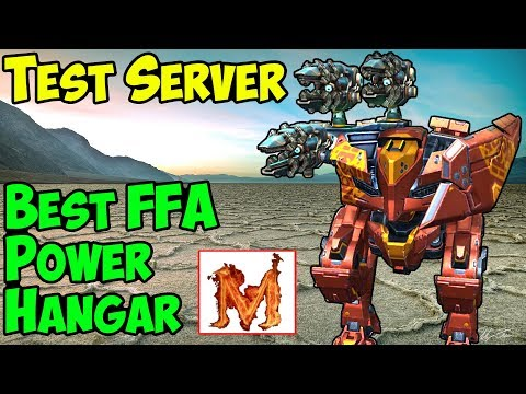 War Robots Test Server [4.0] Best Free For All Hangar - WR FFA Gameplay