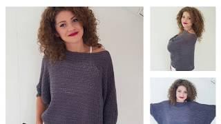 Bat Wings Sweater. Crochet Tutorial
