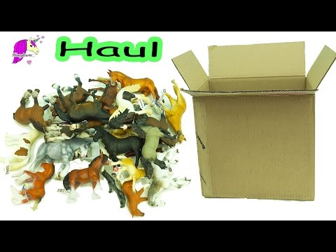 Horse Toy Haul - Schleich, Safari, Breyer, Papo Mare, Stallion, Foal Horses Review