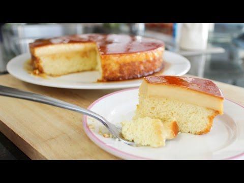 Video Caramel Custard Cake Recipe คัสตาร์ดเค้ก - Hot Thai Kitchen