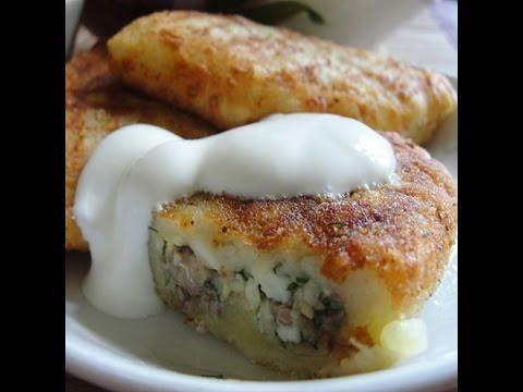 Картофельные зразы с грибами.Очень вкусные!