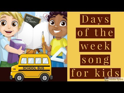 Days of the week song for kids  Nursery Rhymes Song