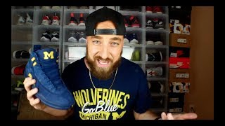EARLY Jordan 12 Michigan  Review & On Feet!!