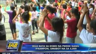 Mga bata sa DSWD na pwede nang ipaampon umabot na sa 4,000