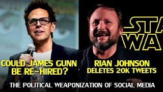 The Demands to Rehire James Gunn, Rian Johnson Deletes 20K Tweets, and Other Celebrities Attacked