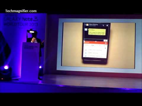 Galaxy Note 3 New Multi Window Feature Demo
