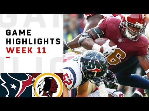 Texans vs. Redskins Week 11 Highlights | NFL 2018