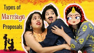 Types of MARRIAGE Proposals .. | #Fun #Sketch #Roleplay #Anaysa #ShrutiArjunAnand