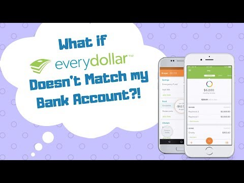 EveryDollar Tutorial: What if My Bank Account Doesn't Match?