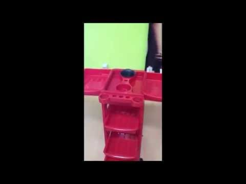 Carrito Peluquería Rojo SBF 109