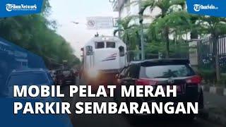Viral Video Mobil Pelat Merah Parkir di Jalur Kereta Api di Solo, Ternyata Begini Fakta Sebenarnya
