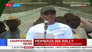 Amason Kingi reads Coastal Region's resolutions during #MOMBASA BBI RALLY