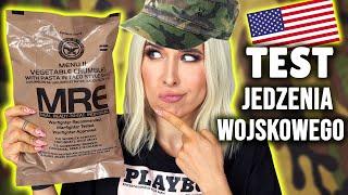 Co jedzą amerykańscy żołnierze? 😱 TEST RACJI ŻYWNOŚCIOWEJ MRE - Aga Testuje | Agnieszka Grzelak Vlog