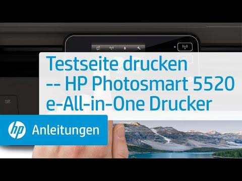 Testseite drucken -- HP Photosmart 5520 e-All-in-One Drucker