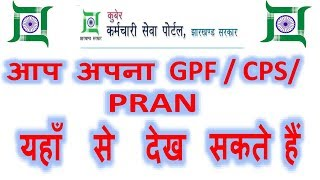 How to check GPF/ CPS / PRAN all details