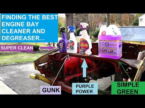 Choosing the BEST ENGINE CLEANER and DEGREASER | Gunk vs Purple Power vs Super Clean vs Others