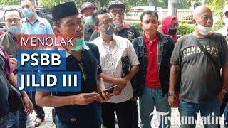 Paguyuban Arek Surabaya Gelar Aksi Tolak PSBB Jilid III