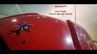 First FPV flight from a moving car! Not an epic fail?