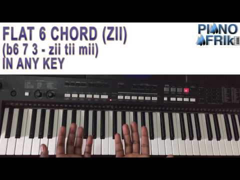 FLAT SIX (HOW TO USE ZII) - PASSING CHORD TUTORIAL BY PIANO AFRIK