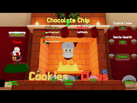 I WILL EAT THEM ALL! | Cookies vs Claus (w/ H2O Delirious, Ohmwrecker, & Gorillaphent) Screenshot 4