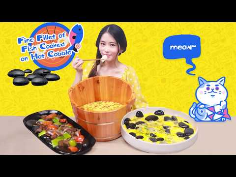 E60 Cooking with hot stones at office | Ms Yeah