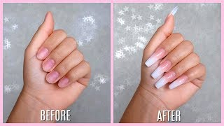 Doing My Own Acrylic Nails! *first Time*
