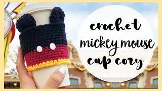 Crochet Mickey Mouse Cup Cozy // Crochet Disney